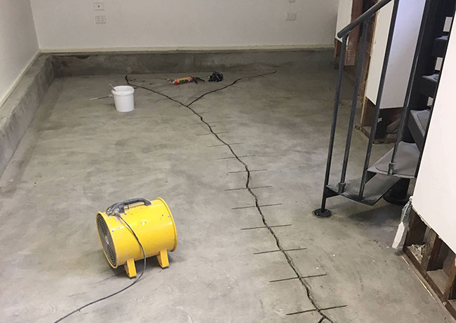 Basement Slab Repair & Waterproofing